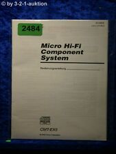 Sony Bedienungsanleitung CMT EX5 Component System (#2484)