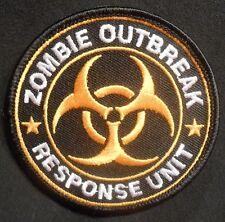 ZOMBIE HUNTER OUTBREAK RESPONSE UNIT TOXIC ORANGE VELCRO® BRAND FASTENER PATCH