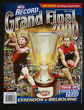 2000 Grand Final record & Giant Player Poster Essendon vs Melbourne unmarked