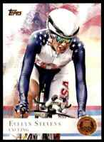 2012 TOPPS OLYMPICS COPPER EVELYN STEVENS CYCLING #96 PARALLEL