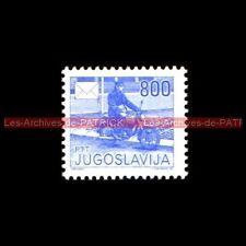 Postier à MOTO 800 Poste PTT JUGOSLAVIJA YOUGOSLAVIE Moto Timbre Stempel Stamp