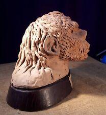 1968 E.J. Seltmar Original Clay Sculpture on Mount. PEKING MAN. Primal Male Head