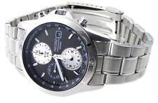 SEIKO Chronograph SND513 SND513P1 Mens Black Dial 100m Stainless Steel Watch