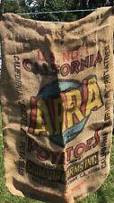 Vintage Arra Brand California Potatoes Burlap Sack Bag Giumarra Farms