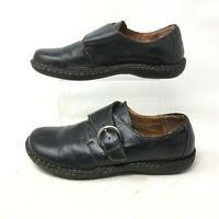 Boc Born Concept Tina Comfort Shoes Womens 8 Monk Strap Leather Black C47503