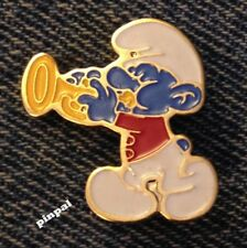 Smurf Brooch Pin~Playing Horn~1980 Vintage by Peyo~NOS~New Old Stock