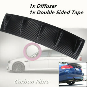 1*Carbon Fiber Medium Spoiler Shark Fins 5 Wing Lip Diffuser Rear Bumper Chassis