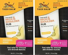 Tiger Balm Neck & Shoulder Rub FAST Muscle Ache Relief 50 g ( 2 pack ) SALE! ***
