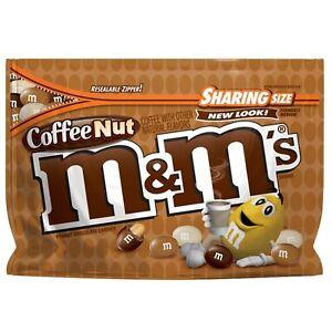 M&M'S Coffee Nut Peanut Chocolate Candy Sharing Size, 9.6 Oz. Bag.