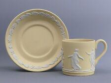 More details for wedgwood jasperware yellow primrose dancing hours cabinet cup & saucer