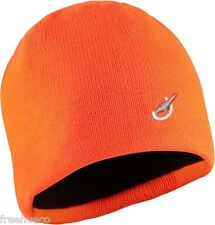 SEALSKINZ Waterproof Beanie Hat Cold Weather -Hi Vis Orange -Unisex Large/XL