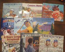 Lot 9 Baseball Picture Books African American Bat Boy & Violin