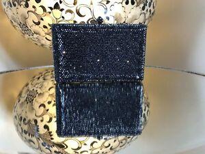 Peeptoe Black Diamond Rectangle Ladies Clutch RRP $399