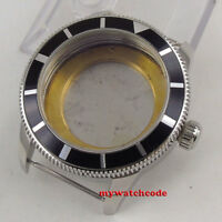 46mm 316L steel black bezel Watch Case fit ETA 2824 2836 miyota 8215 MOVEMENT88