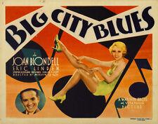 BIG CITY BLUES Movie POSTER 22x28 Joop Admiraal Ren  Deshauteurs David Kropveld