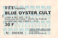 ticket billet place concert BLUE OYSTER CULT 1978 PARIS