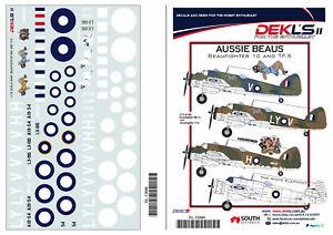 1/72 Decal  - 'Aussie Beaus' - Beaufighter 1C and TF.X DEKL's II