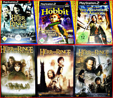 PS2 3 DER HERR DER RINGE GAMES & 3 DVD Filme BOX: DER HOBBIT+ARAGON+DIE 2 TÜRME