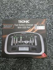 TRONIC FAST BATTERY CHARGER WITH USB PORT