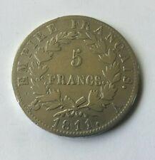 5 Francs Argent Napoléon 1er Empereur 1811 A Paris