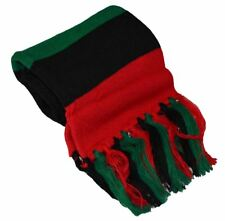 """MM Red Black and Green Pan-african Flag Inspired Scarf 7""""*60"""""""