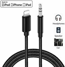 1M Braided Aux Cable For iPhone 7 8 X Xs Max 11 Pro Lightning to 3.5mm Adapter