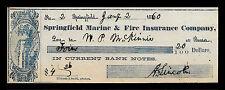 Abraham Lincoln Autograph & Check Reprint On Original Period 1860s Paper