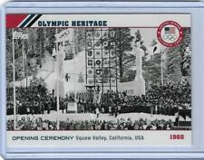2014 TOPPS OLYMPIC OPENING CEREMONY / HERITAGE CARD OH-8 ~ 1960 SQUAW VALLEY CA