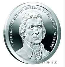 2017 1 oz .999 Thomas Jefferson Silver Shield proof Pre-sale