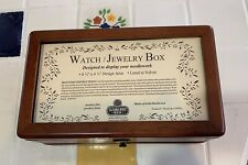 Sudberry House Watch/Jewelry Box Solid Wood /velvet Needlework Display NIB