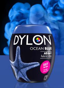DYLON Fabric Machine Dye Pod OCEAN BLUE  350g Cotton Wool - Natural Fibres