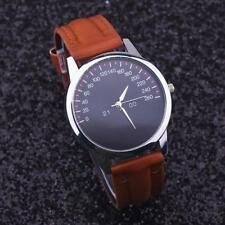 Unisex High Quality Brown Leather Watch With Velvet Bag