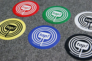 NFC Tag 6er Set mit MIFARE Classic® Chip - 1k Sticker/Aufkleber - nfcBros. tap!z