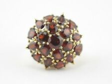 VINTAGE 14K YELLOW GOLD 10 CTW GARNET DOME CLUSTER RING SIZE 8 #13B