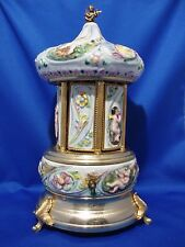 Capodimonte Swiss Musical Lipstick Carousel Raindrops Keeps Falling-A Time for