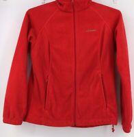 Columbia Red Fleece Full Zip Sweatshirt womens size L, Large