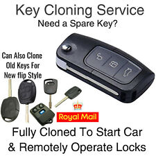 New Ford Focus Mondeo KA Transit Connect Remote Flip Key Fob Cut Programming