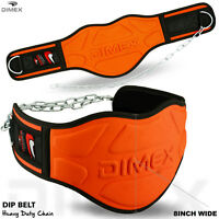 """Dipping Belt Body Building Weight Lifting Dip 8"""" Wide Chain Exercise Gym"""