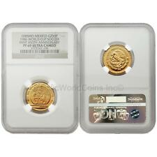 Mexico 1985 (1986 World Cup Soccer Games) 250 Pesos 1/4 oz Gold NGC PF69