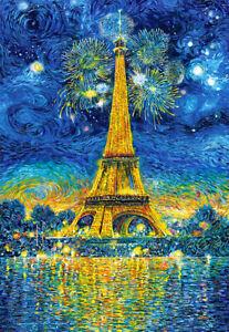 PUZZLE PINTURA TORRE EIFFEL PARIS Estilo Van Gogh 1500 PIEZAS CASTORLAND 151851
