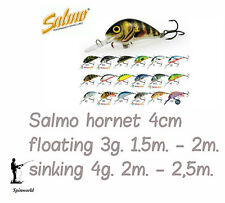 Salmo HORNET 4cm . Variety Colours FLOATING & SINKING VERSIONS    FREE POSTAGE
