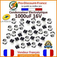 Lot Condensateur Électrolytique 1000µF 1000uF 1000MF 16V 105° Aluminium SMT