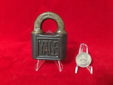 (1) Vintage / Antique YALE PUSH-KEY PADLOCK Lock - No Keys - NICE CONDITION.