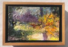 """Marion Spirn """"September Morning"""" Encaustic On Wood 7 1/2"""" X 10 1/2"""""""