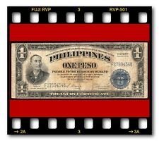 PHILIPPINES TREASURY SERIES 66 1944 P-94 PESO VICTORY OVERPRINT BANKNOTE