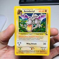 Aerodactyl 1/62 Holo Rare Pokemon Card Fossil Set Vintage 1999 WOTC Near Mint++