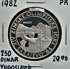 1982 Yugoslavia 250 Dinar Proof
