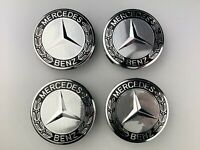 4x Mercedes Benz Alloy Wheel Centre Caps 75mm Hub Badges Emblem Set of 4pcs
