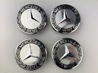 4x Mercedes Benz Alloy Wheel Centre Caps 75mm Hub Badges Emblem Set of 4pcs