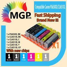 6pcs Ink Cartridges PGI-650XL CLI-651XL for Canon Pixma MG6360 IP7260 Printer